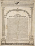 Political:Posters & Broadsides (pre-1896), Henry Clay: 1829 Anti-Jackson Speech on Silk....