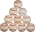Autographs:Baseballs, Yankee Greats Signed Baseball Collection of 10....