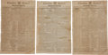 Political:Small Paper (pre-1896), George Washington: Six Memorial Newspapers....