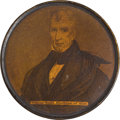Political:3D & Other Display (pre-1896), William Henry Harrison: Outstanding Campaign Snuff Box...