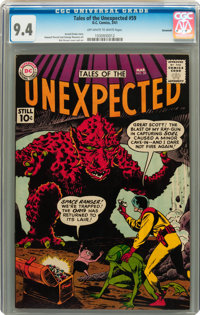 Tales of the Unexpected #59 Savannah pedigree (DC, 1961) CGC NM 9.4 Off-white to white pages