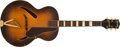 Musical Instruments:Electric Guitars, Late 1940s Gretsch Synchromatic Sunburst Archtop Acoustics Guitar # N/A....