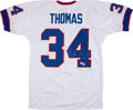 Football Collectibles:Uniforms, Thurman Thomas Signed Jersey....