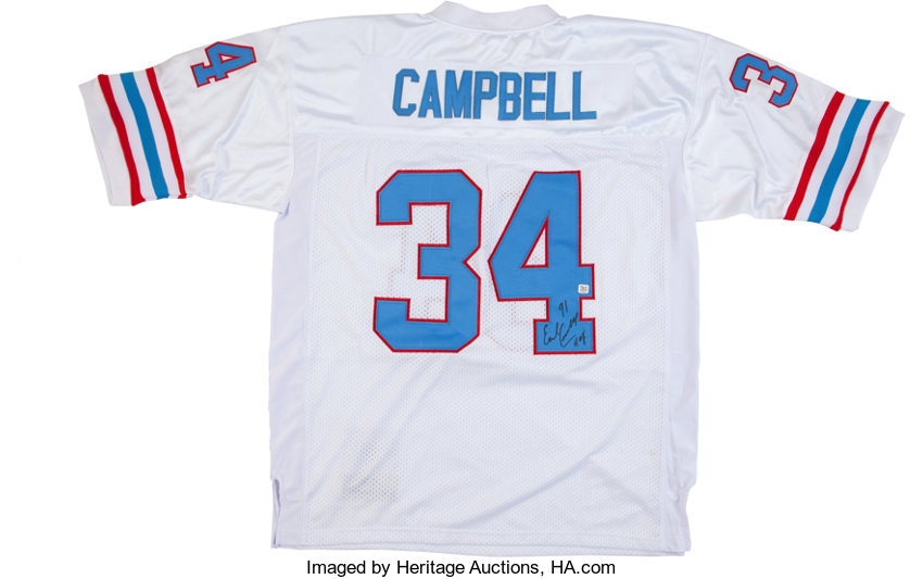 new products 96f98 8b0d5 Earl Campbell Signed Jersey.... Football Collectibles ...