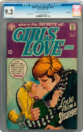 Silver Age (1956-1969):Romance, Girls' Love Stories #143 Savannah pedigree (DC, 1969) CGC NM- 9.2Cream to off-white pages....