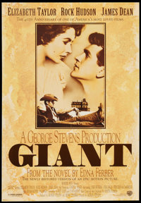 "Giant (Warner Brothers, R-1996). 40th Anniversary One Sheet (27"" X 39""). Drama"
