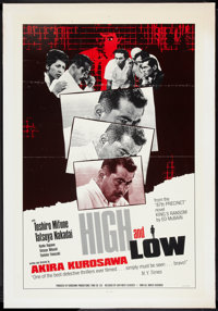 "High and Low (East-West Classics, R-1986). One Sheet (27"" X 41""). Thriller"