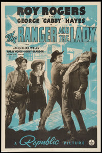 """The Ranger and the Lady (Republic, 1940). One Sheet (27"""" X 41""""). Western"""