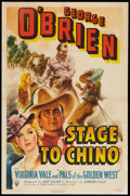 "Movie Posters:Western, Stage to Chino (RKO, 1940). One Sheet (27"" X 41""). Western.. ..."