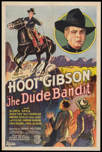 """The Dude Bandit (Allied Pictures, 1933). One Sheet (27"""" X 41""""). Western"""