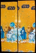 "Movie Posters:Science Fiction, Star Wars (20th Century Fox, 1977). Sears Twin Flat Bedspreads (2)(61"" X 90""). Science Fiction.. ... (Total: 2 Items)"