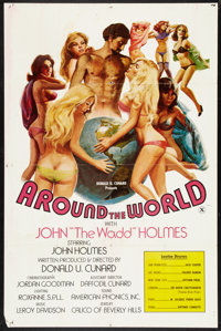 """Around the World with John 'The Wadd' Holmes (Art-Mart, 1975). One Sheet (26.75"""" X 40.5""""). Adult"""