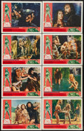 "Movie Posters:Fantasy, One Million Years B.C. (20th Century Fox, 1966). Lobby Card Set of 8 (11"" X 14""). Fantasy.. ... (Total: 8 Items)"