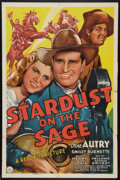 "Movie Posters:Western, Stardust on the Sage (Republic, 1942). One Sheet (27"" X 41"").Western.. ..."