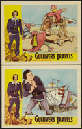 "Movie Posters:Animation, Gulliver's Travels (NTA, R-1957). Lobby Cards (2) (11"" X 14""). Animation.. ... (Total: 2 Items)"