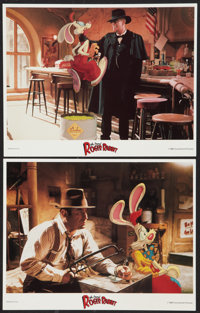 """Who Framed Roger Rabbit (Buena Vista, 1988). Lobby Cards (2) (11"""" X 14""""). Animated. ... (Total: 2 Items)"""