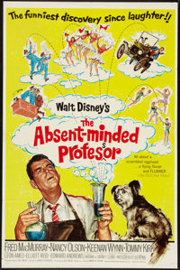 """The Absent-Minded Professor (Buena Vista, R-1967). One Sheets (3) (27"""" X 41""""). Comedy. ... (Total: 3 Items)"""