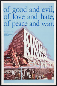 """King of Kings Lot (MGM, 1961). One Sheets (2) (27"""" X 41"""") Style A and Regular Style. Historical Drama. ... (To..."""
