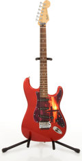Musical Instruments:Electric Guitars, 1984-87 Fender Stratocaster Red Electric Guitar #E731666....
