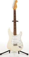 Musical Instruments:Electric Guitars, 1997-98 Fender American Stratocaster Olympic White Electric Guitar#N7313066....