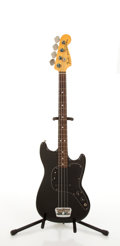 Musical Instruments:Bass Guitars, 1977-78 Fender American Musicmaster Black Electric Bass Guitar #S838443....