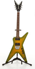 Musical Instruments:Electric Guitars, Washburn Dime-333 Dime Bag Darrel Flyin-V Two-Tone Burst ElectricGuitar #G01121223....