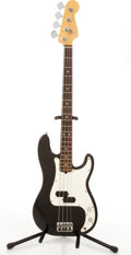 Musical Instruments:Bass Guitars, 1995-96 Fender American Precision Black Electric Bass Guitar #N565096....
