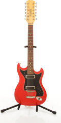 Musical Instruments:Electric Guitars, Circa 1960's Hagstrom 12-String Red Electric Guitar #663658....