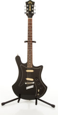 Musical Instruments:Electric Guitars, Circa 1970's Guild S60-D Black Electric Guitar #1802 8....
