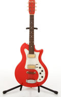 Musical Instruments:Electric Guitars, Vintage Airline 2 Pickup Red Electric Guitar #I-82131....
