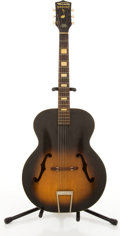 Musical Instruments:Acoustic Guitars, Vintage Harmony Sunburst Archtop Acoustic Guitar #4908H945....