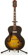 Musical Instruments:Electric Guitars, Vintage Silvertone Sunburst Arched Electric Guitar #3831H59....