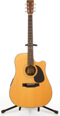 Musical Instruments:Acoustic Guitars, Sigma By Martin DM-40 Natural Electric Acoustic Guitar#92120739....