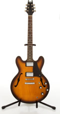 Musical Instruments:Electric Guitars, Dean 335 Copy Sunburst Archtop Electric Guitar # N/A....