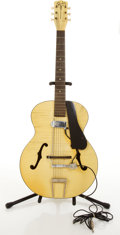Musical Instruments:Acoustic Guitars, Vintage Silvertone H1214 Archtone Blonde Ivory Archtop AcousticGuitar #949H1214....