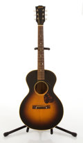 Musical Instruments:Acoustic Guitars, Vintage Gibson LG 3/4 Student Sunburst Acoustic Guitar #V6940 2....