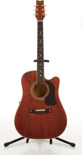 Musical Instruments:Acoustic Guitars, Washburn D17CESWR Cherry Electric Acoustic Guitar #9320179....