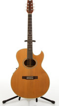 Musical Instruments:Acoustic Guitars, Washburn EA-45 Natural Electric Acoustic Guitar #N/A....