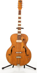 Musical Instruments:Acoustic Guitars, Vintage Nobility Natural Archtop Acoustic Guitar # N/A....