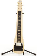 Musical Instruments:Lap Steel Guitars, Vintage Gretsch Electromatic Ivory Lap Steel Guitar #X27931....