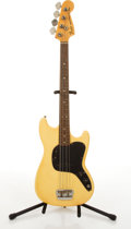 Musical Instruments:Bass Guitars, 1978 Fender American Musicmaster Olympic White Electric Bass Guitar #S828246....