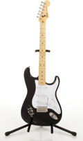 Musical Instruments:Electric Guitars, 1984-87 Fender Stratocaster Black Electric Guitar #E968927...