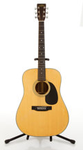 Musical Instruments:Acoustic Guitars, 1980's Sigma Martin DM5 Natural Acoustic Guitar #S24387...