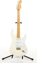 Musical Instruments:Electric Guitars, Modern Fender Jimmie Vaughan Stratocaster White Electric Guitar#MSN607759....