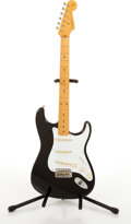 Musical Instruments:Electric Guitars, Recent Fender American 57 Reissue Stratocaster Black ElectricGuitar #V159683....