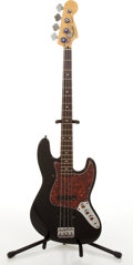 Musical Instruments:Bass Guitars, Fender Jazz Bass Black Electric Bass Guitar #CN214157....