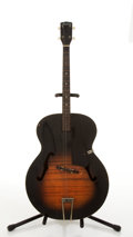 Musical Instruments:Acoustic Guitars, Vintage Harmony Tenor Sunburst Archtop Acoustic Guitar # N/A....