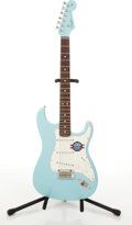 Musical Instruments:Electric Guitars, 2009/10 Fender American Standard Stratocaster Blue Electric Guitar#Z9324489....