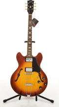 Musical Instruments:Electric Guitars, Vintage Gibson ES-335TD Sunburst Archtop Electric Guitar#182072....