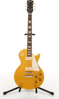 Musical Instruments:Electric Guitars, Gibson Les Paul Reissue Gold Top Electric Guitar #68047....